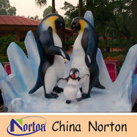 life size customized fiberglass penguin sculpture/fiberglass statue NTRS-CS064S