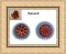 hot sale nacarat 8 hearts 8 arrows cut cz gems wholesale/diamond beads