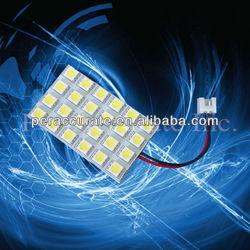 Auto led Dome light 24smd 5050chips T10,ba9s,festoon sockets PCB Indoor Light Bulbs