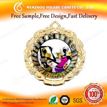 One Stop 2014 new model brands of enamel metal medals, fast delivery