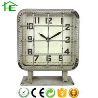promotional bedside decorative metal desktop antique clock