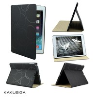 H&H ultra thin luxury design folio cover leather case for ipad air/smart cover case for ipad 5