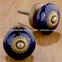 Popular Hand Painted Ceramic Knobs Available in any Shape and Design