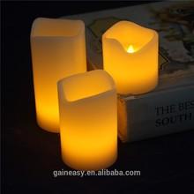 alimentato a batteria giallo bagliore di luce paraffina ha condotto <span class=keywords><strong>chiesa</strong></span> candela decorativa