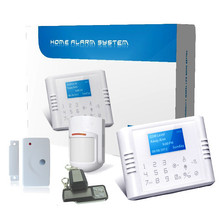 Home guard gsm sms alarm system, wireless battery powered alarm gsm for business