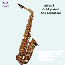 Precision musical instruments of gold plated alto sax