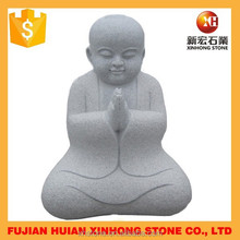 Grey Granite hand carved cute buddha for temple