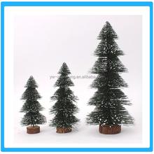 High quality various sizes snow christmas tree Green christmas ornament