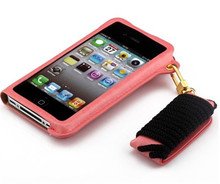mobile phone leather neck case for iphone5s,make leather cell phone case
