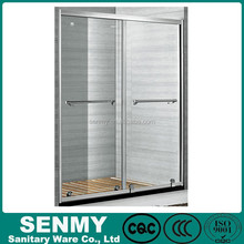 shower screen sliding open with 8mm tempered glass frame frame style door