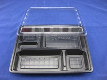 disposable compartment sushi food tray
