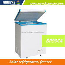 2015 New arrival solar powered deep freezer commercial freezer mini freezer price