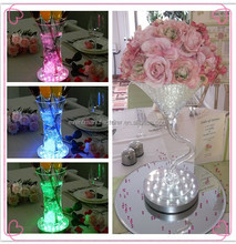 Wedding and event tables decorations Led Remote Controlled Under Vase Light Base table center pieces for wedding