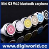 Mini Smallest invisable Bluetooth Headset bluetooth earphone with noise canceling