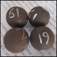 Hot rolling forged steel ball used to grinding mine