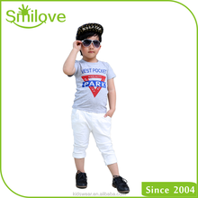 2015 100% Cotton Children Inverted Triangle Children Polo print T Shirt