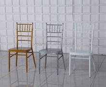 Hotel Powder Coating Steel Chiavari Dining Chair Aluminum Classic Wedding Chiavari Chair