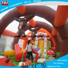 2015 Best inflatable amusement park for kids, inflatable jumping funcity, giant inflatable animal theme fun city playground