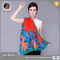JINNUO fashion big size square scarf polyester wholesales kind of designs wraps and shawls