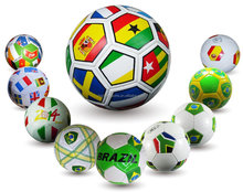2014 world cup country flag soccer ball wholesales