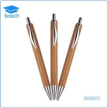 2015 New Style China Supplier click ballpoint pen for promotion wood ball pen