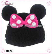 manual de h624 bebé tejer minnie bowknot sombrero del bebé es de fotos de los productos