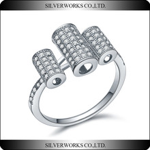 2015 Fashion pure silver ring stamped 925 rings for women unique 925 sterling silver ring