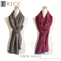 Fine Wool Small Check Scarf The Gift for Lovers Shawl