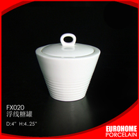 Restaurant ceramic sugar bowl for wholesale importer