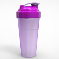 Promotion Item 600ML Protein PP Customized milk shake bottle wholesale Shaker With Wire Whisk Ball