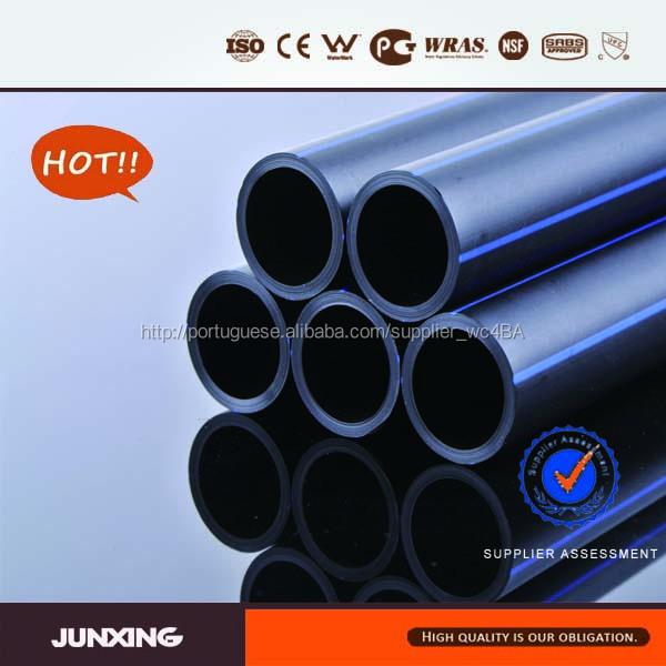 Metric pe100 tubulação de alta densidade polietileno / pe tubo de tubo de pead 63 mm