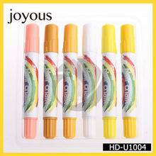 Venta al por mayor de pelo amarillo alegre tiza fácil utiliza tintes de cabello temporal hd-u1004