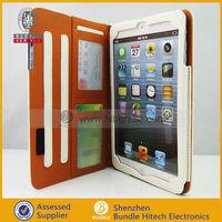 for iPad mini accessories PU leather case for mini iPad with credit card slot