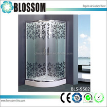 2015 Hangzhou Bathroom new plastic glass sliding free standing shower enclosure