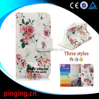 Wholesale cell phone cases color printing leather case for Lenovo A808T A8