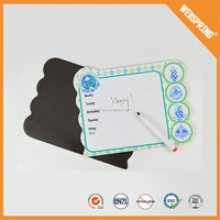 Eco-friendly high quality fridge magnet white board with pen