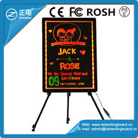 High Quality ZD Indoor Advertising Board 90 Flashing Modes Magic LED Glow Pad CE/ROHS/FCC Sign Boards for Shops