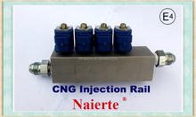 CNG injector rail conversion kit used in trucks