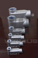 OEM Thread Rigid Conduit Body / EMT Conduit Body / Grey malleable Iron Conduit Body