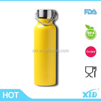 Hot resistant stainless steel vacuum bottle with bamboo cap china manufacturer