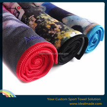 2015 trendy style! Style happy microfiber terry 400gsm printed towels with custom designs