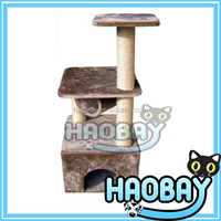 Plush MDF Board Cat Tree House
