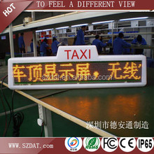 P7.62 Advertising Car Roof LED Display Taxi Top
