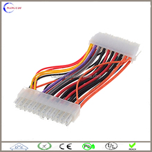 custom 4.2mm pitch 20 pin to 24 pin atx power supply cable assemblies