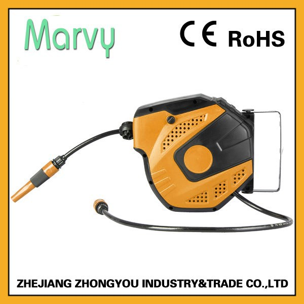 cost-performance retractable water hose reel 10m with PU MESH HOSE
