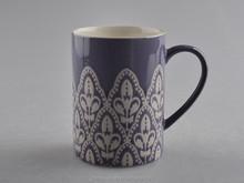 china manufacturer 13oz purple round ceramic coffee mug,coffee cup and mug with double glaze,ceramic-mug