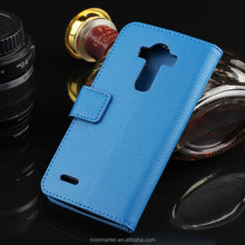 PU Leather case for LG G4, Mobile Phone Case design for LG G4 case, business style with 2 Credit holder for LG G4 case