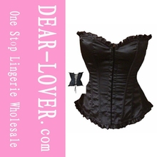 Hot sell pretty girls sexy nude underwear sexx xx Black Corset