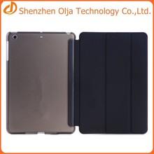 3 folding flip leather cover case for ipad mini,for ipad mini smart case