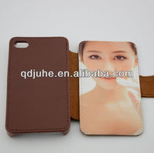 pu leather wallet cell phone cases for iphone 4/4s case with card slot